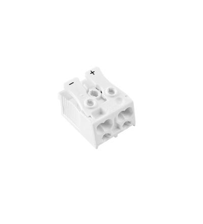 Svorkovnice SLK 3/2 (+ -) pro svítidla, bezšroubová, PC, bílá /88167621, ELEMAN 1000409