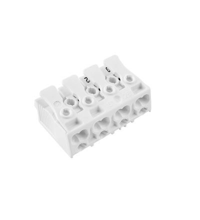 Svorkovnice SLK 3/4 (bez potisku) pro svítidla, bezšroubová, PC, bílá /88713099, ELEMAN 1000413