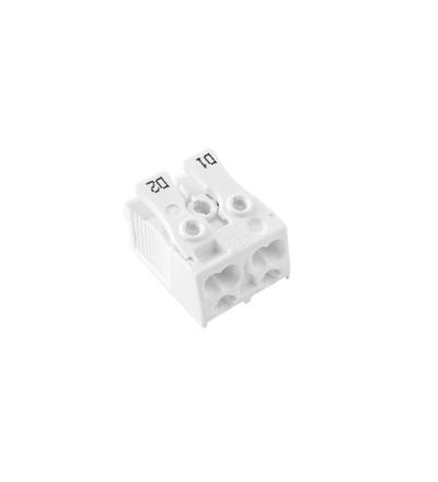 Svorkovnice SLK 3/2 (D1-D2) pro svítidla, bezšroubová, PC, bílá /88167524, ELEMAN 1000417