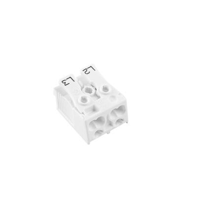 Svorkovnice SLK 3/2 (L2-L3) pro svítidla, bezšroubová, PC, bílá /88713042, ELEMAN 1000418
