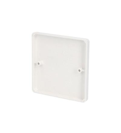 Víčko VKL 80 pro lištové krabice KL 80x28 / KL 80 N, (hloubka 9mm), bílé, na šroubky, ELEMAN 1000430