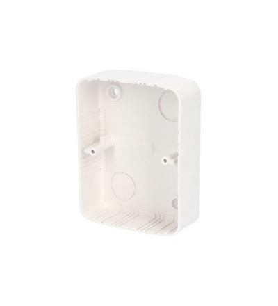 Krabice lištová KL 80x28 ZSTG, (hloubka 28mm), pod dvouzásuvku TANGO, bílá, na omítku, ELEMAN 431