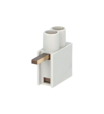 Svorka připojovací AS/2x10-H, jazýček horní, dvouvstupová svorka, 2x10mm2, 63A, ELEMAN 490 (10 ks)