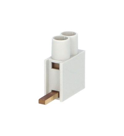 Svorka připojovací AS/2x10-D, jazýček dolní, dvouvstupová svorka,  2x10mm2, 63A, ELEMAN 491 (30 ks)