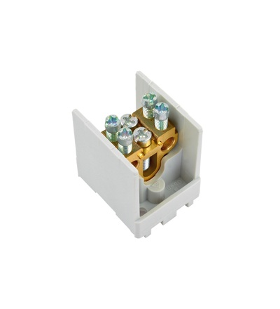 Svorkovnice stoupací HAK/1/25, nekrytá, 80A, 1pól., 1x25mm2 a 2x16mm2, na DIN, ELEMAN 1000515