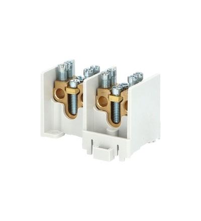 Svorkovnice stoupací HAK/2/25, nekrytá, 80A, 2pól., každý pól 1x25mm2 a 2x16mm2, na DIN, ELEMAN 1000516