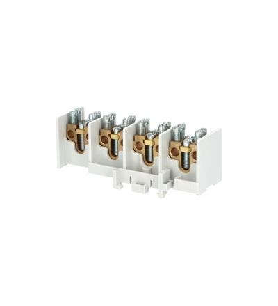 Svorkovnice stoupací HAK/4/25, nekrytá, 80A, 4pól., každý pól 1x25mm2 a 2x16mm2, na DIN, ELEMAN 1000517