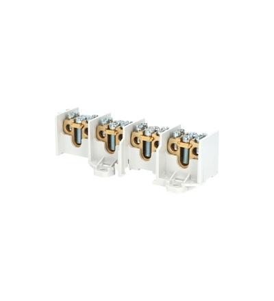 Svorkovnice stoupací HAK/4/35, nekrytá, 100A, 4pól., každý pól 1x35mm2 a 2x25mm2, na DIN, ELEMAN 1000519
