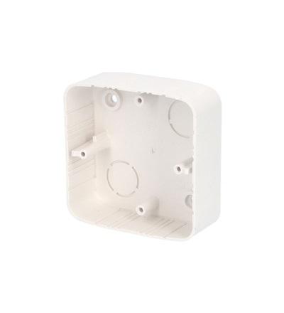 Krabice lištová KL 80x28 TG, (hloubka 28mm), pod TANGO, bílá, na omítku, ELEMAN 1000724