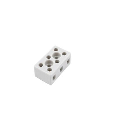 Svorkovnice keramická AK 3/6 BI (2-403-3), 3pól., 3x6mm2, 24A, T350, porcelánová (bílá), ELEMAN 1002560