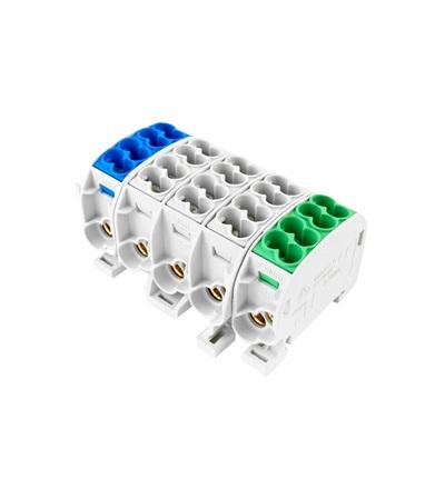 Svorkovnice rozbočovací HLAK 25//5 C N3LPE, 100A, 5pól., CU, IP20, M/3xŠ/Z, na DIN, ELEMAN 1002991