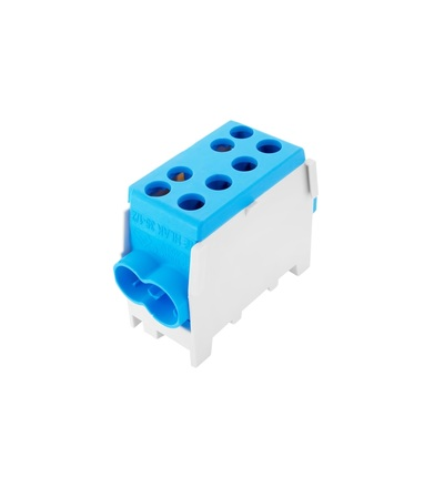 Svorkovnice rozbočovací HLAK 35 1/2 M2, 100A, 1pól., AL/CU, IP20, modrá, na DIN /2080142, ELEMAN 1003122