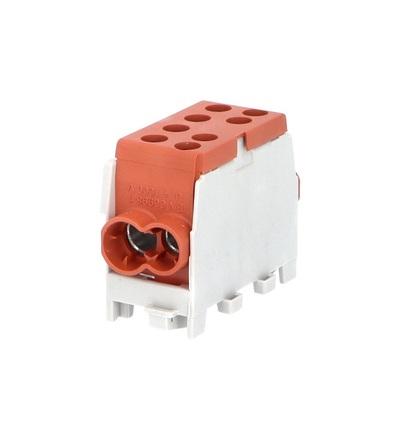 Svorkovnice rozbočovací HLAK 35 1/2 M2, 100A, 1pól., AL/CU, IP20, hnědá, na DIN /2080144, ELEMAN 3124 (5 ks)