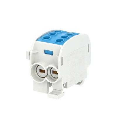 Svorkovnice rozbočovací HLAK 70//1 C N, 160A, 1pól., CU, IP20, modrá, na DIN, ELEMAN 3168 (3 ks)