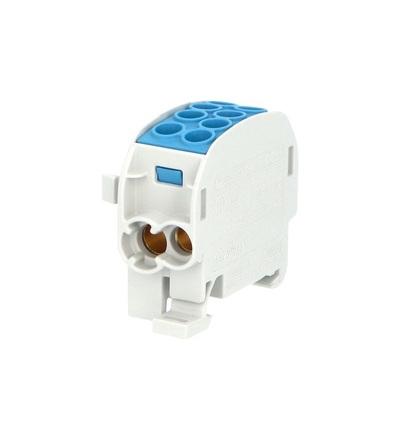 Svorkovnice rozbočovací HLAK 35//1 C N, 125A, 1pól., CU, IP20, modrá, na DIN, ELEMAN 1003170