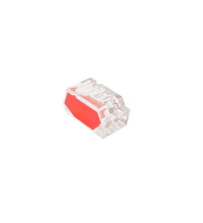 Svorka krabicová P 01-22/10-2, bezšroubová (2x 0,5-2,5mm2, transparentní/červená), ELEMAN 1004690