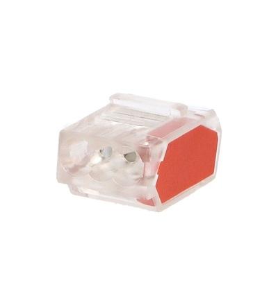 Svorka krabicová P 01-32/10-3, bezšroubová (3x 0,5-2,5mm2, transparentní/oranžová), ELEMAN 1004701
