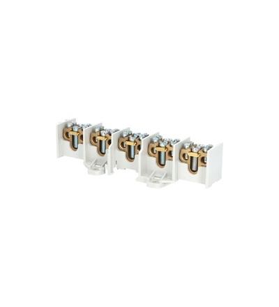 Svorkovnice stoupací HAK/5/35, nekrytá, 100A, 5pól., každý pól 1x35mm2 a 2x25mm2, na DIN, ELEMAN 1005191