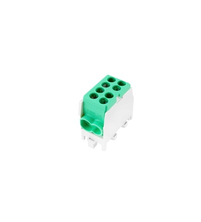 Svorkovnice rozbočovací HLAK 25 1/2 M2, 80A, 1pól., AL/CU, IP20, zelená, na DIN /2080138, ELEMAN 6513 (5 ks)
