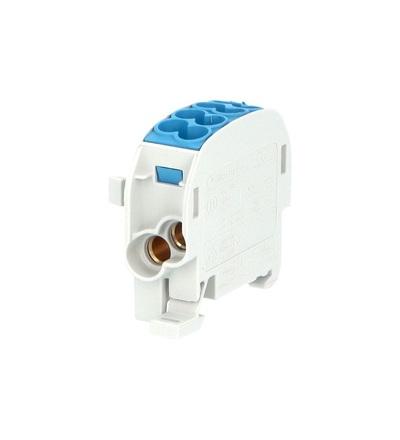 Svorkovnice rozbočovací HLAK 25//1 C N, 100A, 1pól., CU, IP20, modrá, na DIN, ELEMAN 1006530