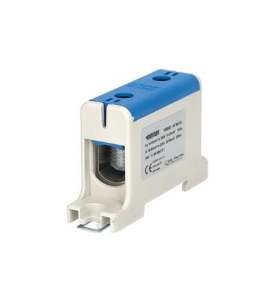 Svorka univerzální UK 95/1 N, 245A, 1pól., AL/CU, krytá, modrá, na DIN, ELEMAN 1006620