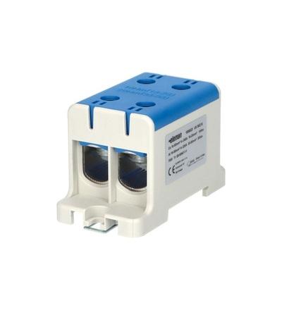Svorka univerzální UK 95/2 N, 245A, 1pól., AL/CU, krytá, modrá, na DIN, ELEMAN 1006623