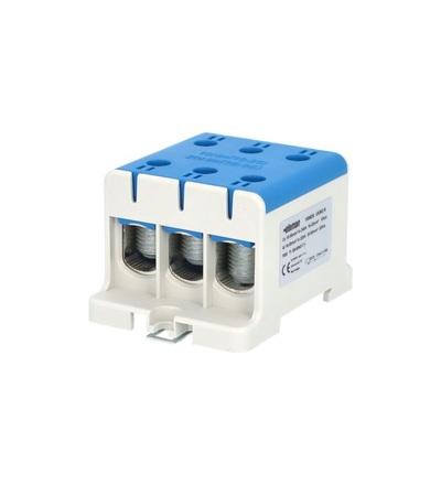 Svorka univerzální UK 95/3 N, 245A, 1pól., AL/CU, krytá, modrá, na DIN /2090308, ELEMAN 1006626