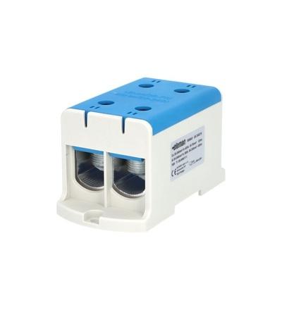 Svorka univerzální UK 240/2 N, 425A, 1pól., AL/CU, krytá, modrá, na DIN/panel /2090214, ELEMAN 1006641