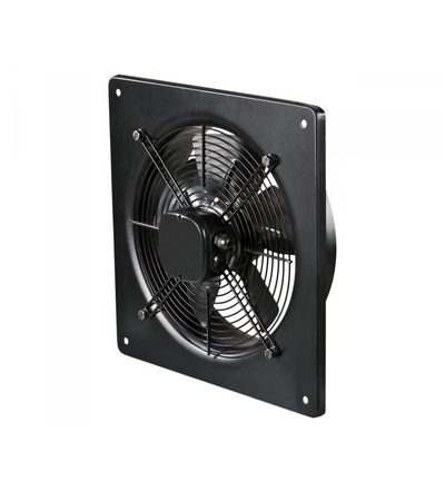 Ventilátor VENTS OV2D 250 průmyslový, čtvercový (370x370mm), černý, ELEMAN 1009294