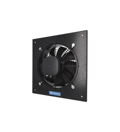 Ventilátor VENTS OV4D 250 průmyslový, čtvercový (370x370mm), černý, ELEMAN 1009295