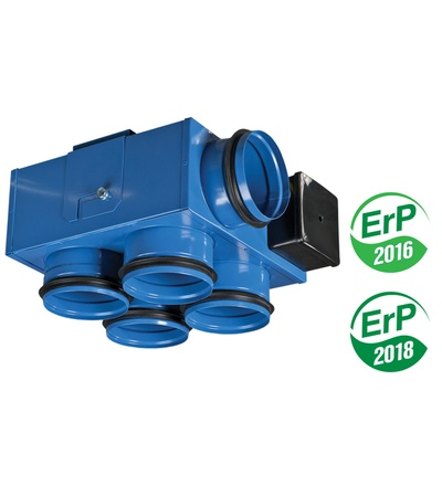 Ventilátor VENTS VKP 100/100x4 mini, potrubní, ELEMAN 1009538