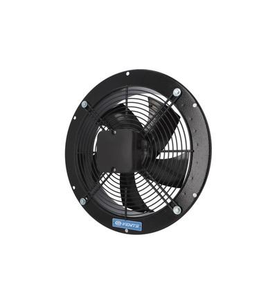 Ventilátor VENTS OVK2E 250 průmyslový, kruhový (průměr 320mm), černý, ELEMAN 1009618