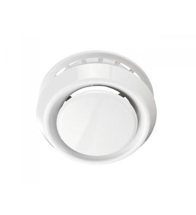 VENTS AM 200 VRF kovový talířový ventil, bílý, polohovatelný, ELEMAN 1009699