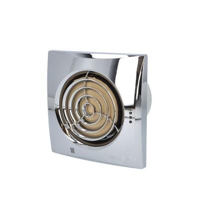 Ventilátor VENTS 100 QUIET Chrome snížená hlučnost, ELEMAN 1010302