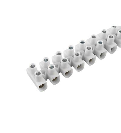 Svorkovnice instalační EKL 1 S, 12x1,5÷6mm2, T80, PP, bílá, povrch. upr. ocel /88168195, ELEMAN 104