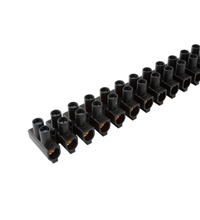 Svorkovnice instalační EKL 4 BE-SVCE, 12x10÷25mm2, T80, PP, černá, mosazná /88717931, ELEMAN 1120