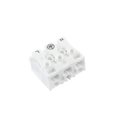 Svorkovnice SLK 3/3 E-PIEC (N-E-L) pro svítidla, bezšroubová, PC, bílá /88167522, ELEMAN 141