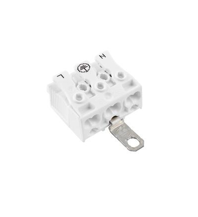 Svorkovnice SLK 3/3 E-SCHR (N-E-L) pro svítidla, bezšroubová, PC, bílá /88167525, ELEMAN 145
