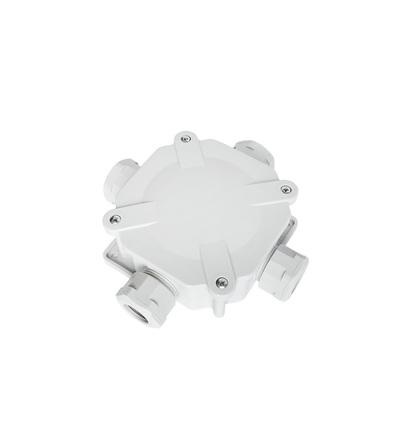 Krabice rozbočovací AC 6455, plastová, s víčkem na šrouby, 4x vstup, na omítku, IP67, ELEMAN 245