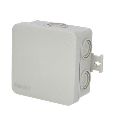 FAMATEL Krabice F8 IP55 rozbočovací, s naklapávacím víčkem, 75x75x40mm 3051