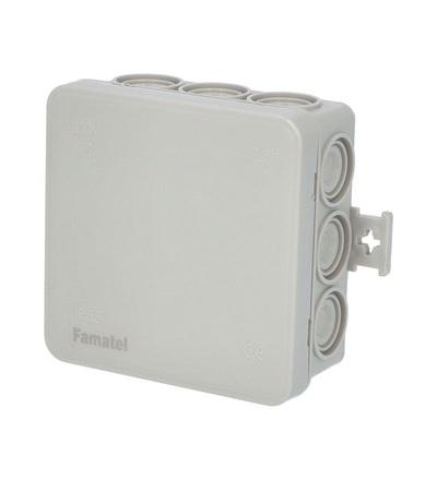 FAMATEL Krabice F12 IP55 rozbočovací, s naklapávacím víčkem, 85x85x40mm 3052