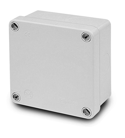 FAMATEL Krabice 3071 IP55 112x112x64mm, plné víko, hladké boky 3071