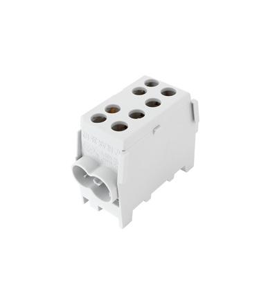 Svorkovnice rozbočovací HLAK 35 1/2 M2, 100A, 1pól., AL/CU, IP20, šedá, na DIN /2080141, ELEMAN 3121