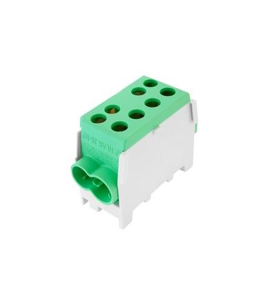Svorkovnice rozbočovací HLAK 35 1/2 M2, 100A, 1pól., AL/CU, IP20, zelená, na DIN /2080143, ELEMAN 3123