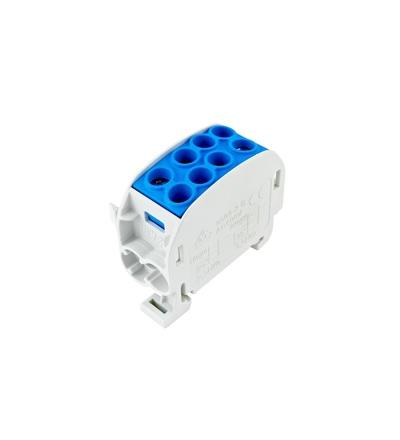 Svorkovnice rozbočovací HLAK 35//1 C N, 125A, 1pól., CU, IP20, modrá, na DIN, ELEMAN 3170