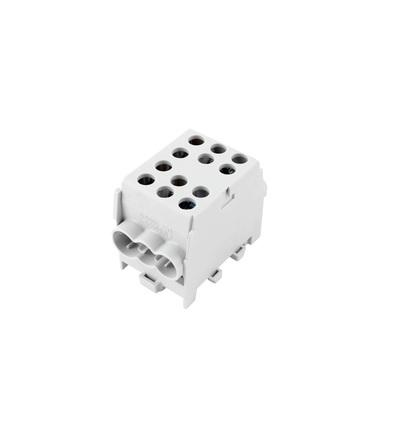 Svorkovnice rozbočovací HLAK 35-1/4 M2 GR, 100A, 1pól., AL/CU, IP20, šedá, na DIN /2080178, ELEMAN 327