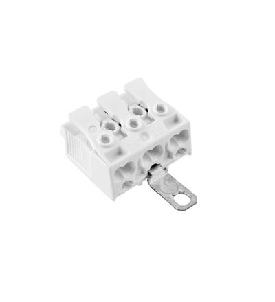 Svorkovnice SLK 3/3 E-SCHR (bez potisku) pro svítidla, bezšroubová, PC, bílá /88167570, ELEMAN 33