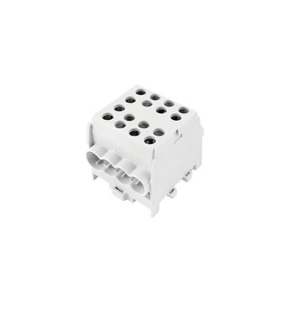 Svorkovnice rozbočovací HLAK 35-1/6 M2 GR, 100A, 1pól., AL/CU, IP20, šedá, na DIN /2080183, ELEMAN 344 (2 ks)