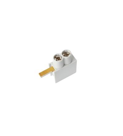 Svorka připojovací AS/2x10-H, jazýček horní, dvouvstupová svorka, 2x10mm2, 63A, ELEMAN 490