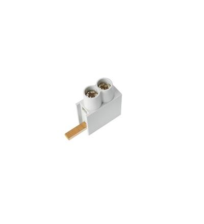 Svorka připojovací AS/2x10-D, jazýček dolní, dvouvstupová svorka,  2x10mm2, 63A, ELEMAN 491